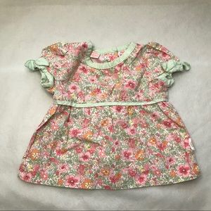 💥4/$20 OSHKOSH B'GOSH floral blouse shoulder bows
